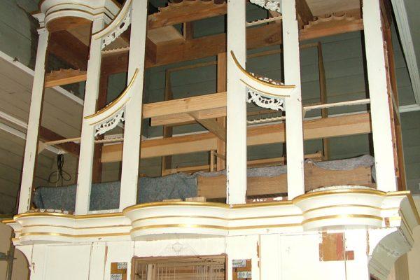 Burhafe, Nds. Wittmund Ev.-luth. Kirche Orgelprospekt 2009